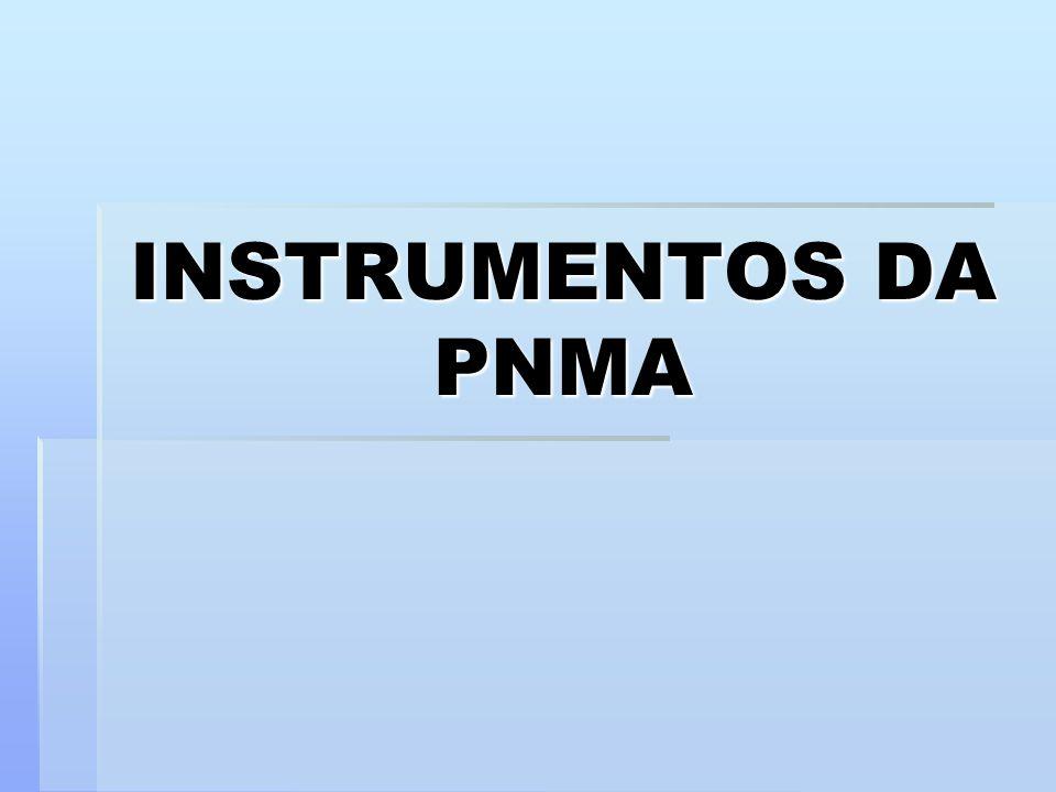 INSTRUMENTOS DA PNMA