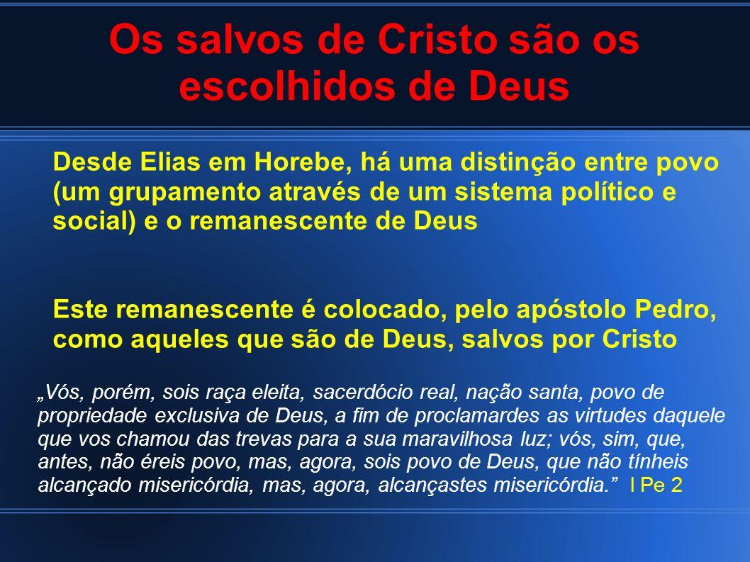Vós, porém, sois raça eleita, sacerdócio real, nação santa, povo de propriedade exclusiva de Deus, a fim de proclamardes as virtudes daquele que vos c
