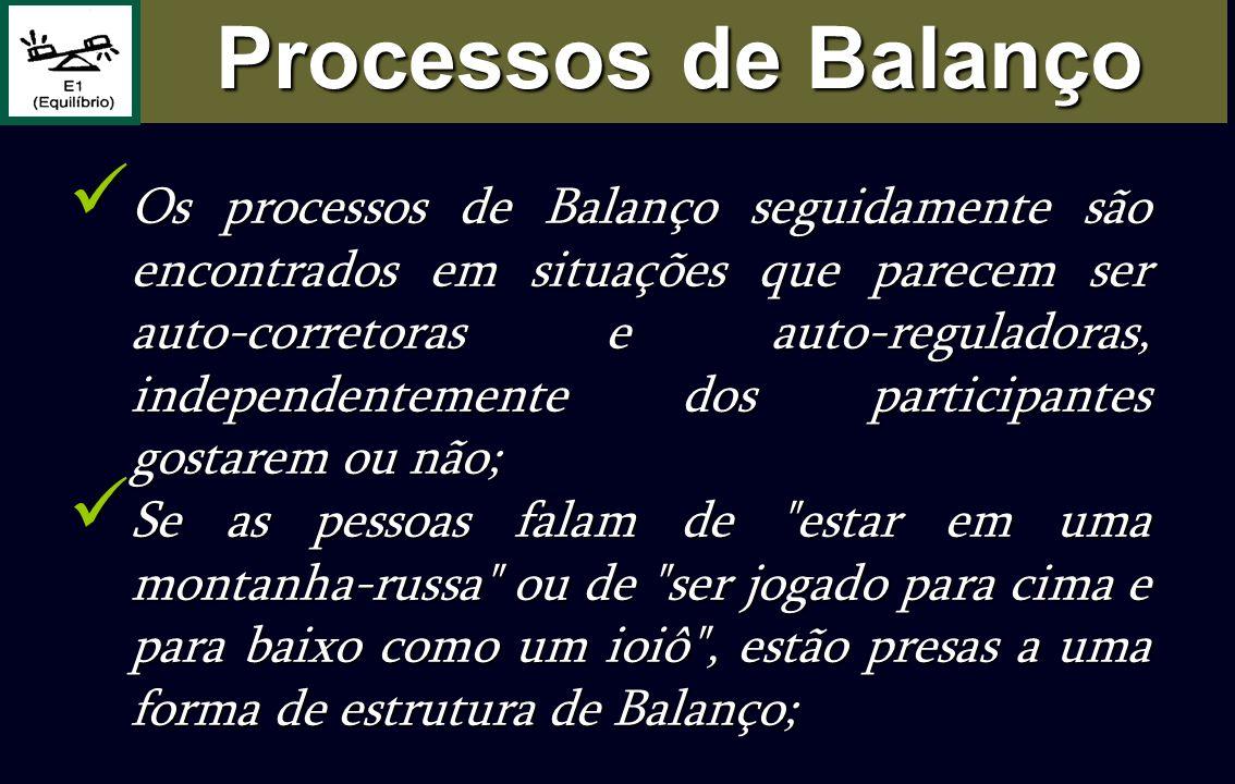 Os processos de Balanço seguidamente são encontrados em situações que parecem ser auto-corretoras e auto-reguladoras, independentemente dos participan