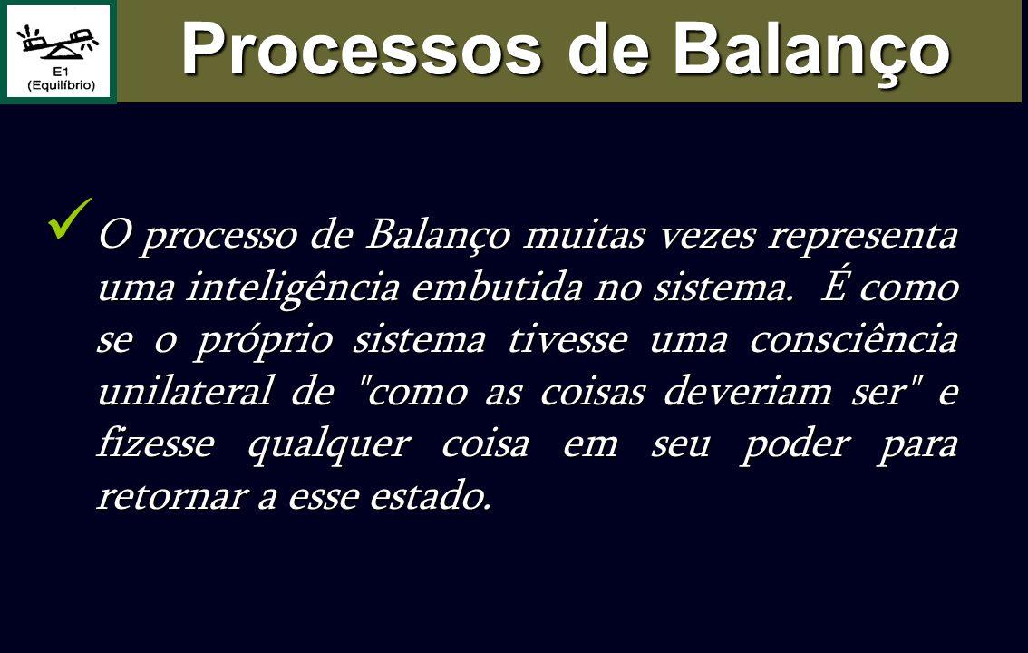 O processo de Balanço muitas vezes representa uma inteligência embutida no sistema. É como se o próprio sistema tivesse uma consciência unilateral de