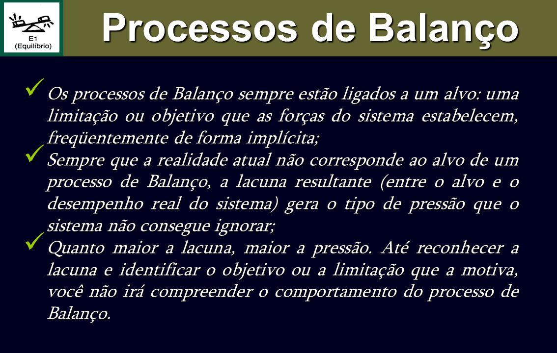 Os processos de Balanço sempre estão ligados a um alvo: uma limitação ou objetivo que as forças do sistema estabelecem, freqüentemente de forma implíc