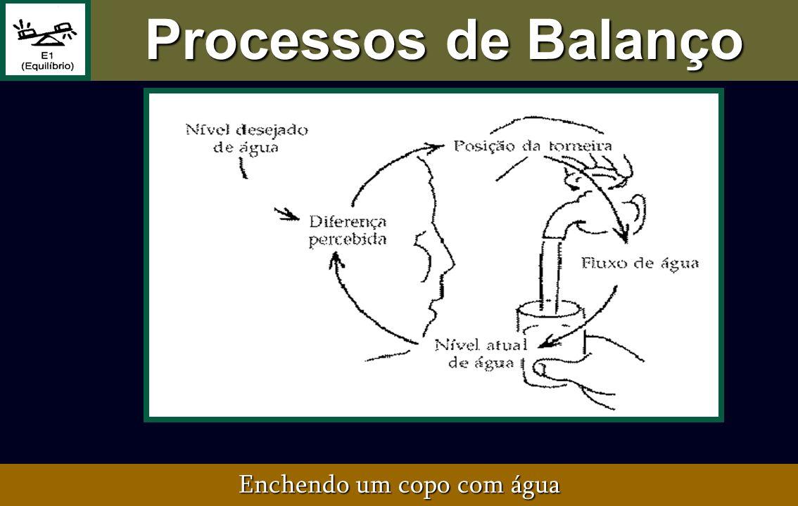 Processos de Balanço Enchendo um copo com água
