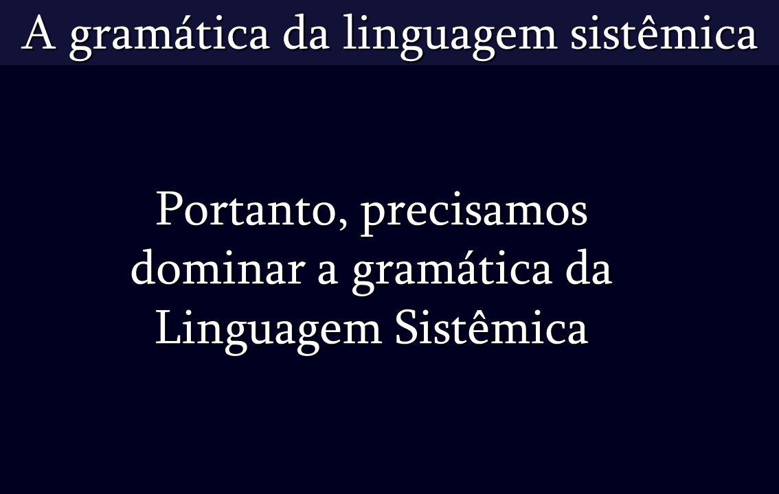 Tarefas: Elaborar apresentações em ppt referentes ao uso da Linguagem Sistêmica – criar enlaces conforme a tabela a seguir.