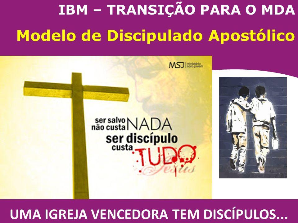IBM – TRANSIÇÃO PARA O MDA Modelo de Discipulado Apostólico UMA IGREJA VENCEDORA TEM DISCÍPULOS...