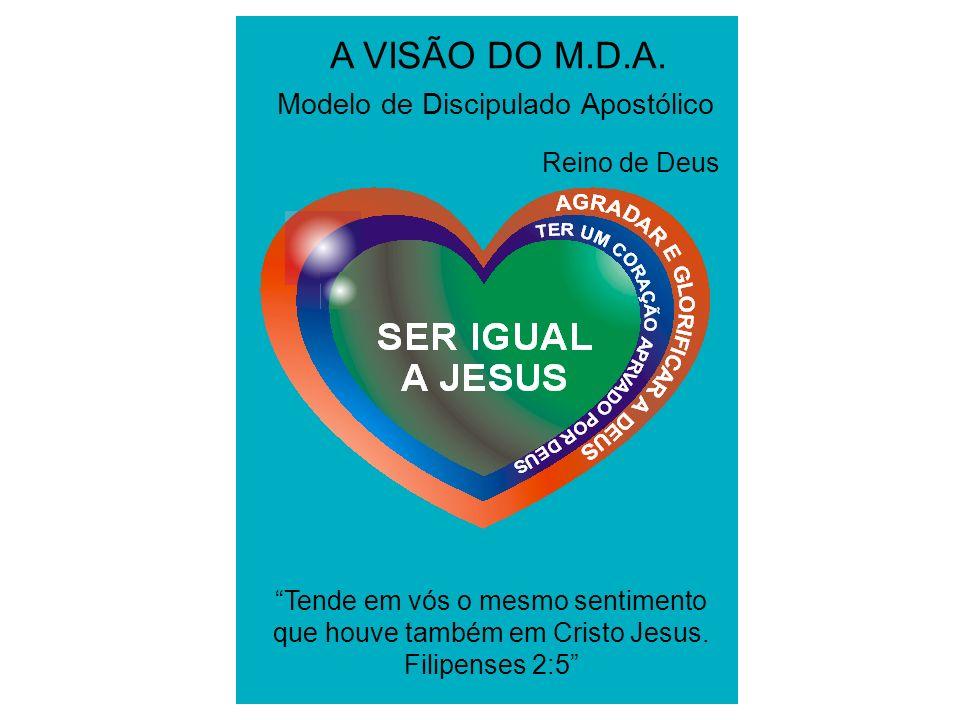 A VISÃO DO M.D.A. Modelo de Discipulado Apostólico Reino de Deus Tende em vós o mesmo sentimento que houve também em Cristo Jesus. Filipenses 2:5