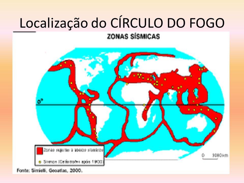 Localização do CÍRCULO DO FOGO Mapa