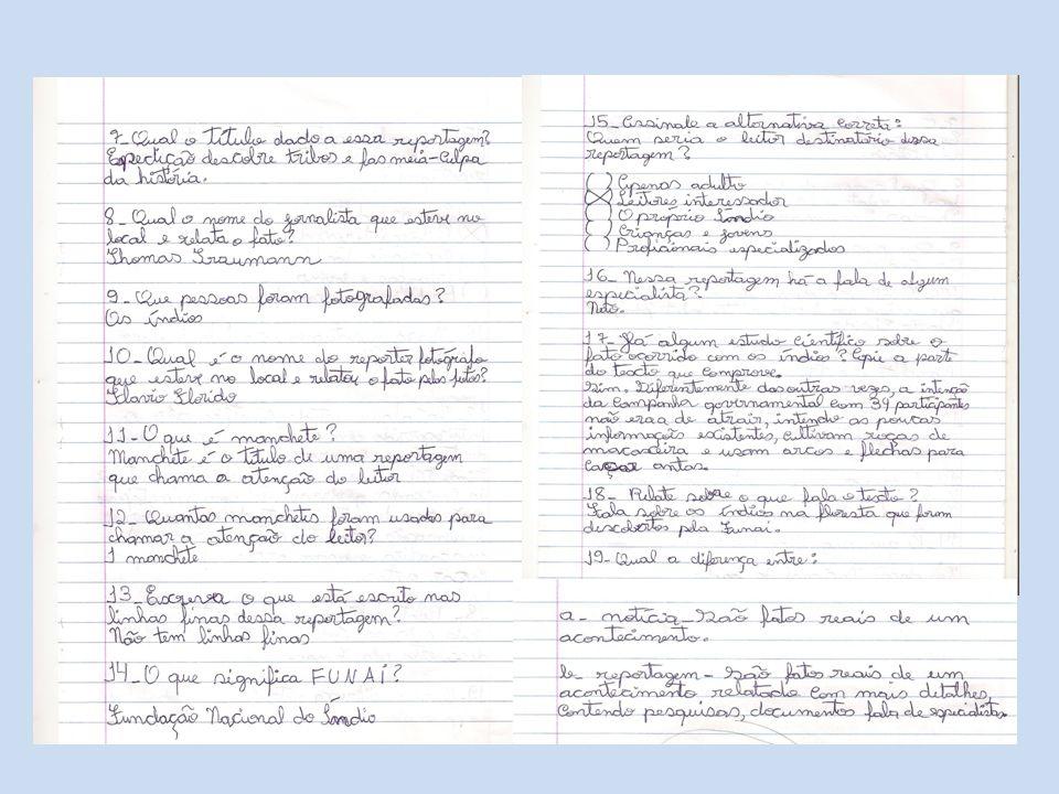 Exemplo de reportagem:(Revista Nova Escola) e conceitos de: Nariz de cera;Lide;Corpo da reportagem e A palavra do especialista.