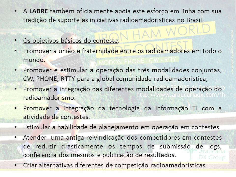 A LABRE também oficialmente apóia este esforço em linha com sua tradição de suporte as iniciativas radioamadoristicas no Brasil.