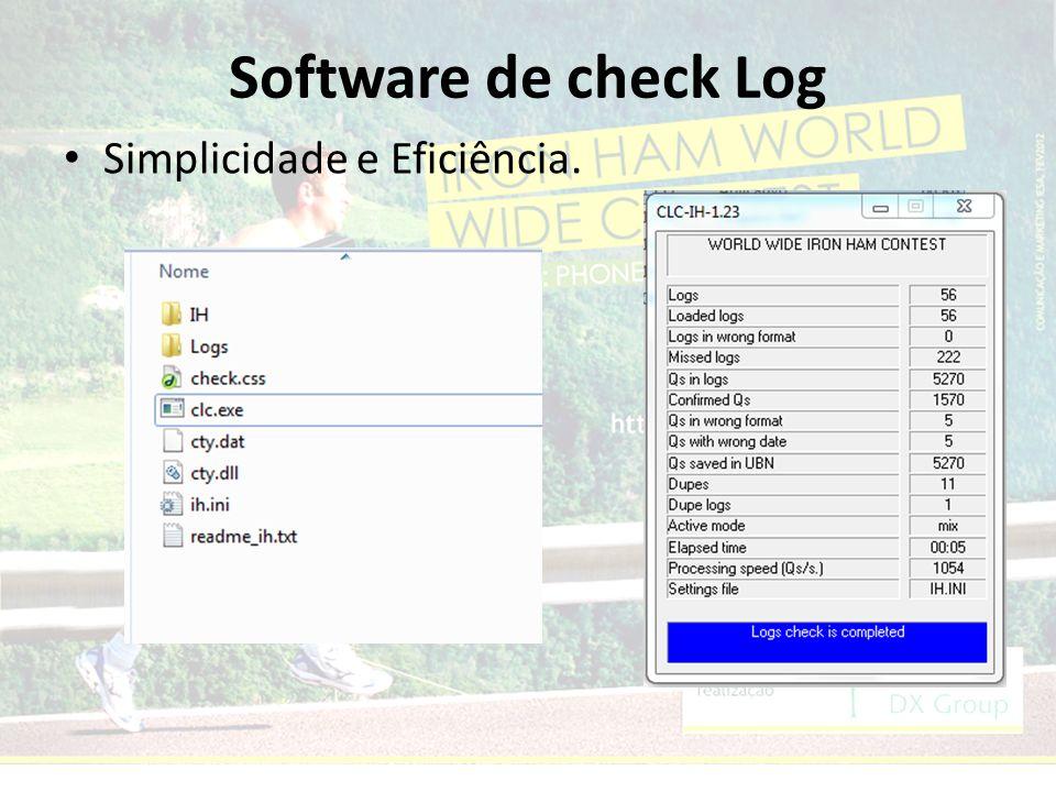 Software de check Log Simplicidade e Eficiência.