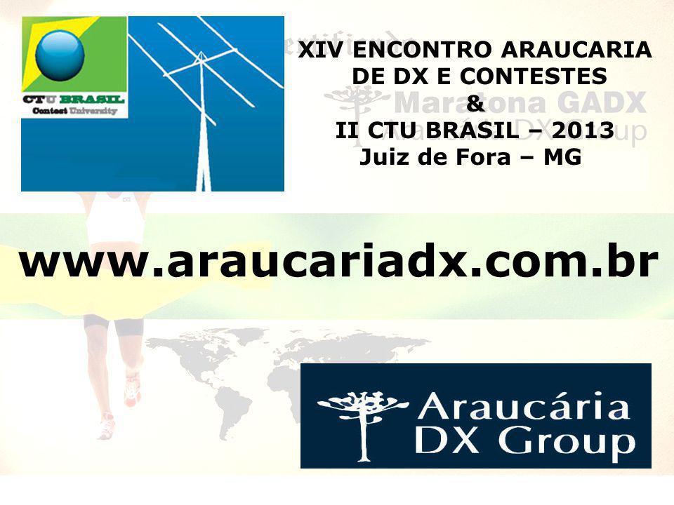 XIV ENCONTRO ARAUCARIA DE DX E CONTESTES & II CTU BRASIL – 2013 Juiz de Fora – MG www.araucariadx.com.br