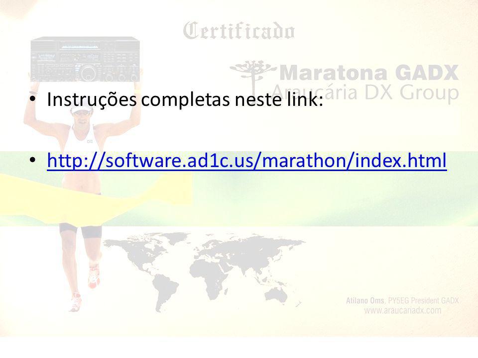 Instruções completas neste link: http://software.ad1c.us/marathon/index.html