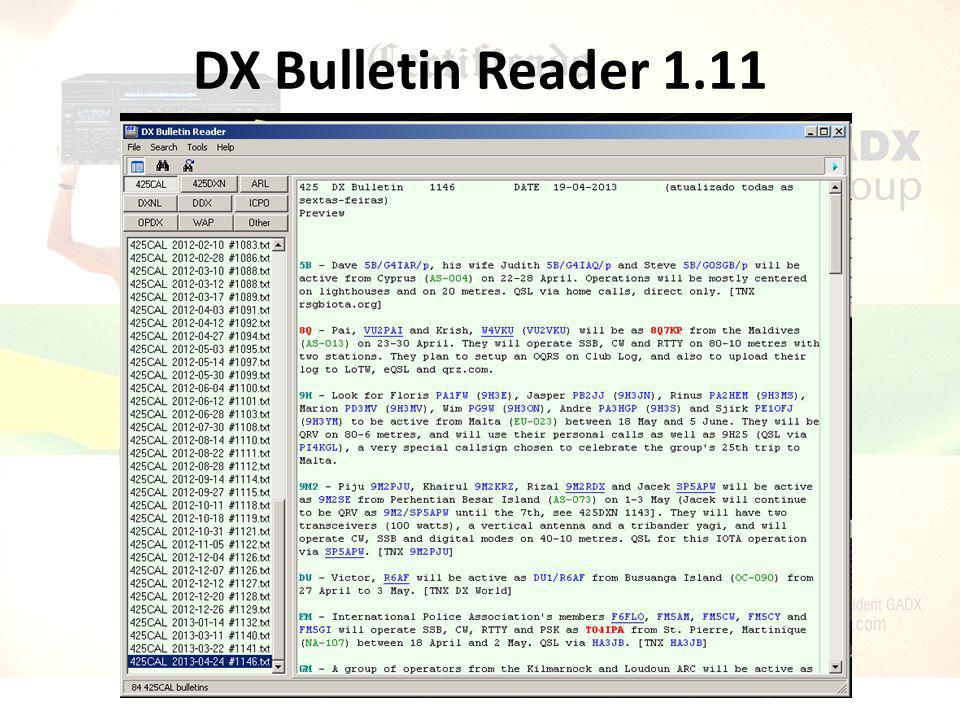 DX Bulletin Reader 1.11
