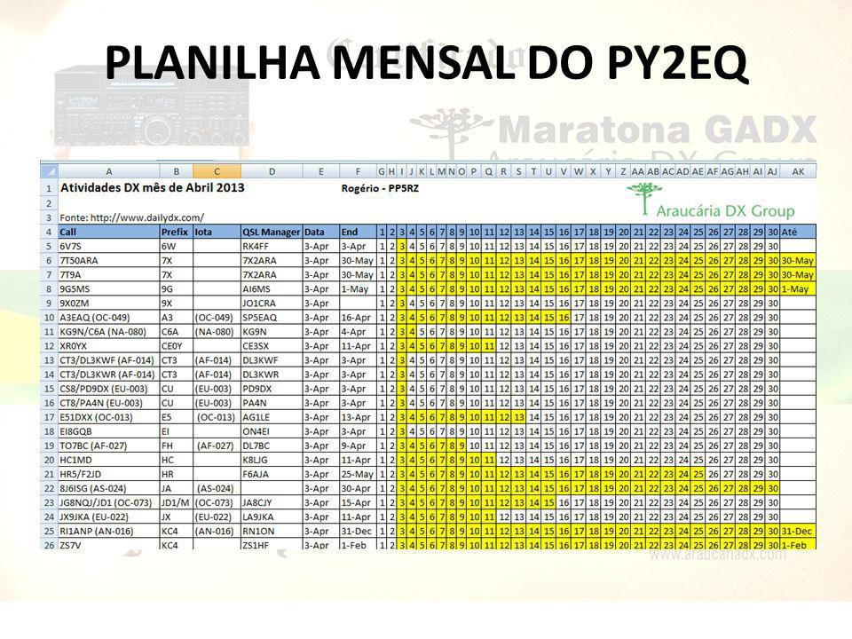 PLANILHA MENSAL DO PY2EQ