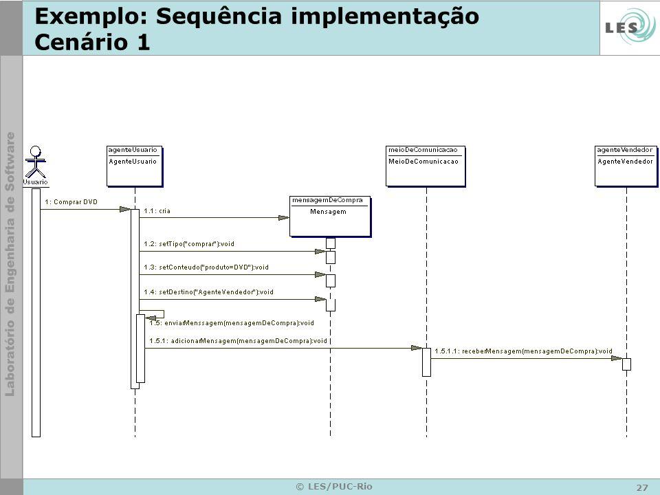 27 © LES/PUC-Rio Exemplo: Sequência implementação Cenário 1