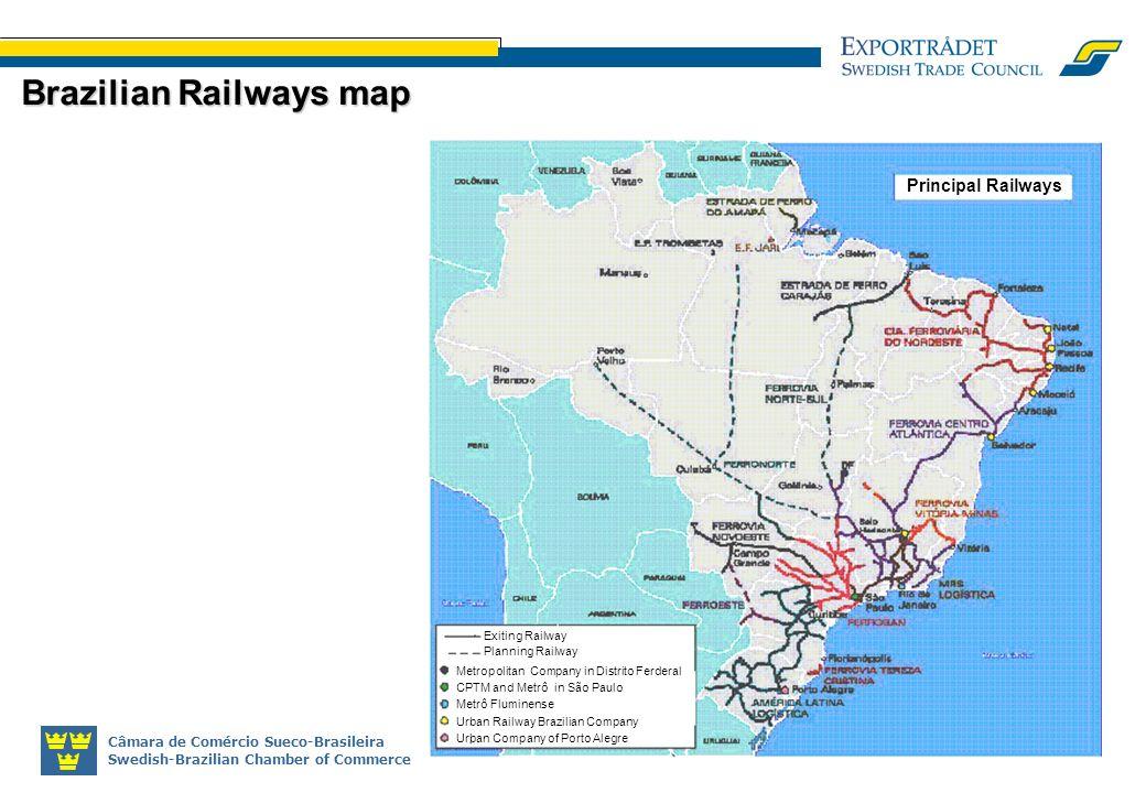 Câmara de Comércio Sueco-Brasileira Swedish-Brazilian Chamber of Commerce Brazilian Railways map Exiting Railway Planning Railway Metropolitan Company