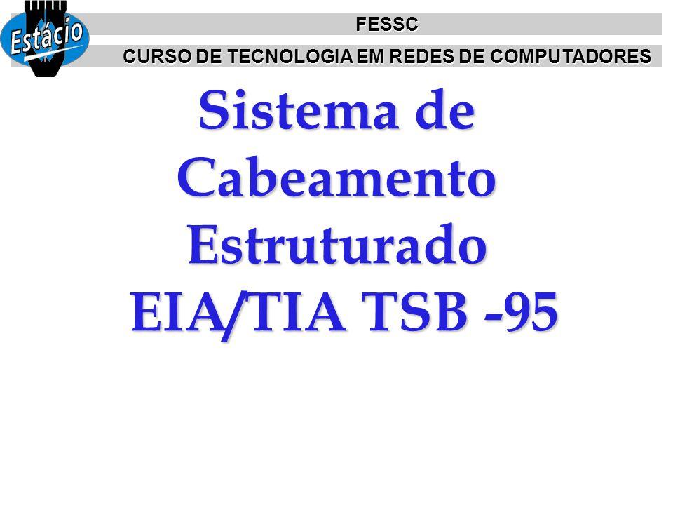 Sistema de Cabeamento Estruturado EIA/TIA TSB -95 FESSC CURSO DE TECNOLOGIA EM REDES DE COMPUTADORES