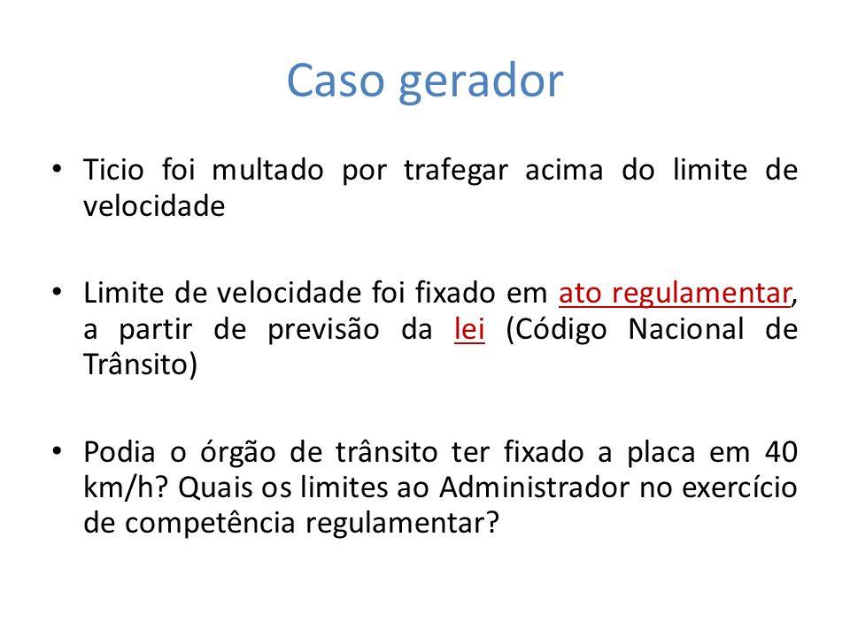 Caso Gerador Código Nacional de Trânsito (Lei 9503/97) Art.