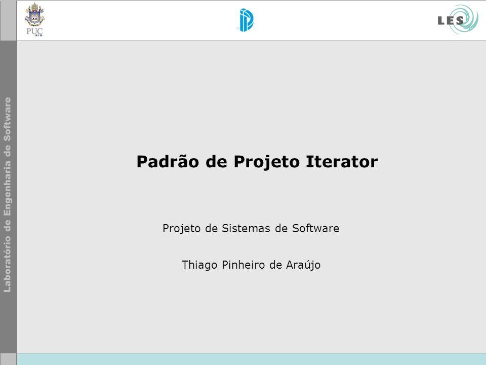 Padrão de Projeto Iterator Projeto de Sistemas de Software Thiago Pinheiro de Araújo