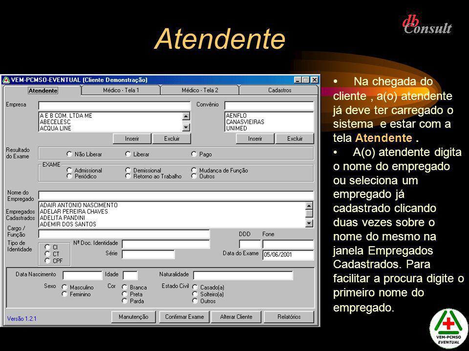 Manutenção de tabelas de Exames Tela usada para exportar exames de um registro para outro, podendo excluir o registro origem após a exportação.