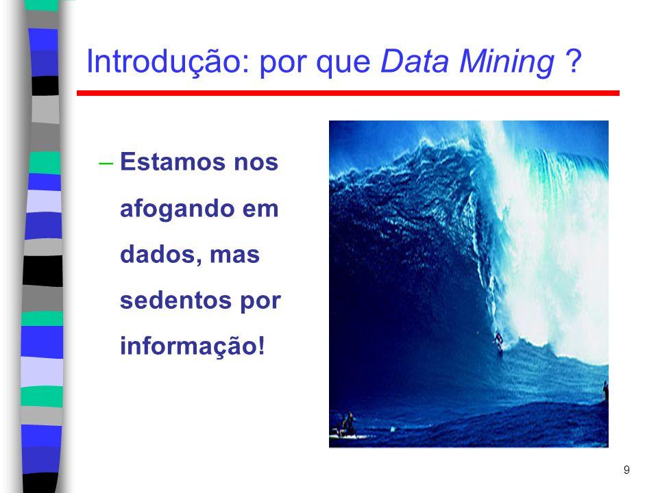 10 Introdução: por que Data Mining .