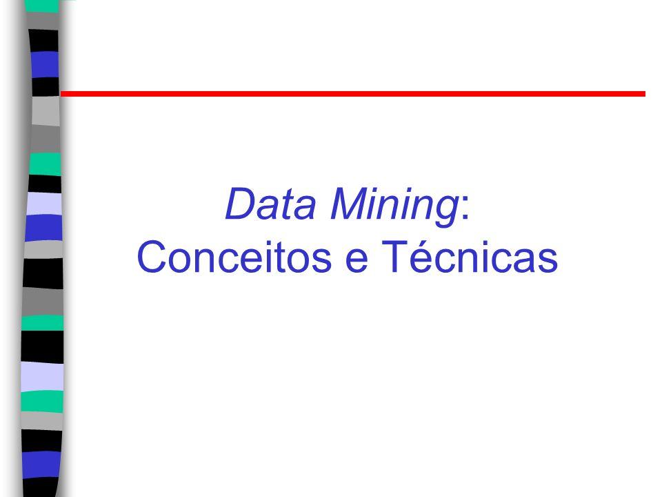 Algumas técnicas para Data Mining Geração de regras de associação; Classificação e predição; Agrupamento (clustering).