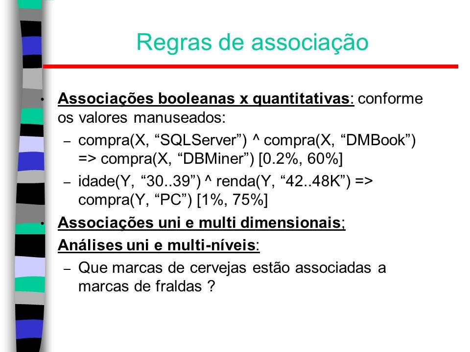 Exemplo: árvore de decisão Ordem dos atributos: ganho de informação (página 70/421 do Mitchell)...