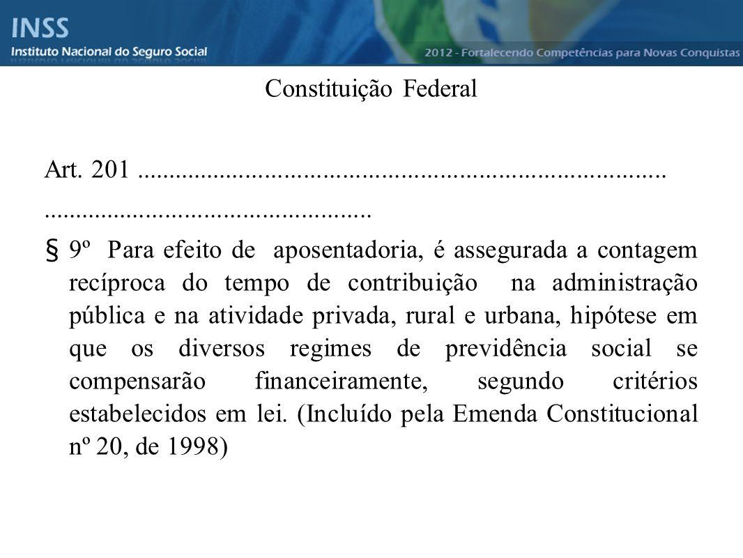 Instituto Nacional do Seguro Social - INSS Constituição Federal Art. 201..............................................................................