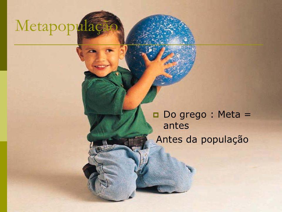 Metapopulação Do grego : Meta = antes Antes da população