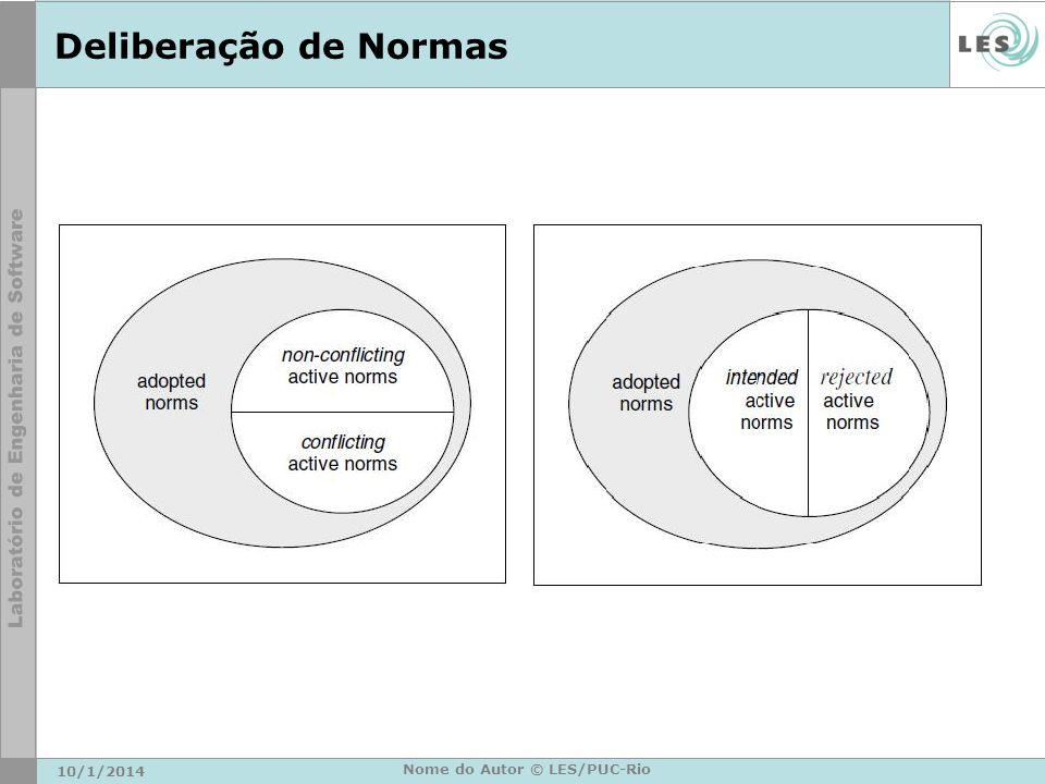 Deliberação de Normas 10/1/2014 Nome do Autor © LES/PUC-Rio