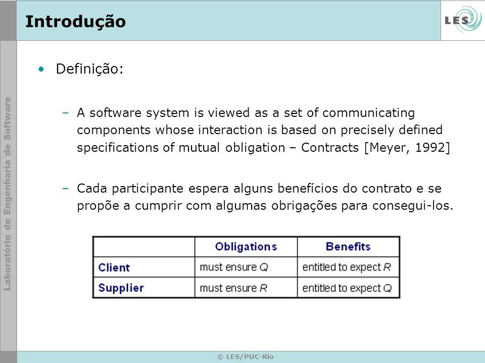 © LES/PUC-Rio Estudo de Caso Contrato de Serviço com Comportamento – Continuação...