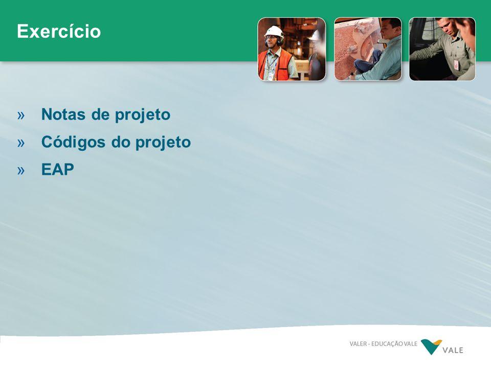 »Notas de projeto »Códigos do projeto »EAP Exercício