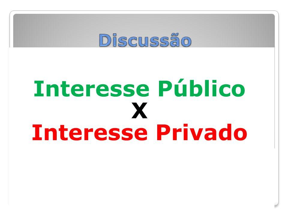 Interesse Público X Interesse Privado