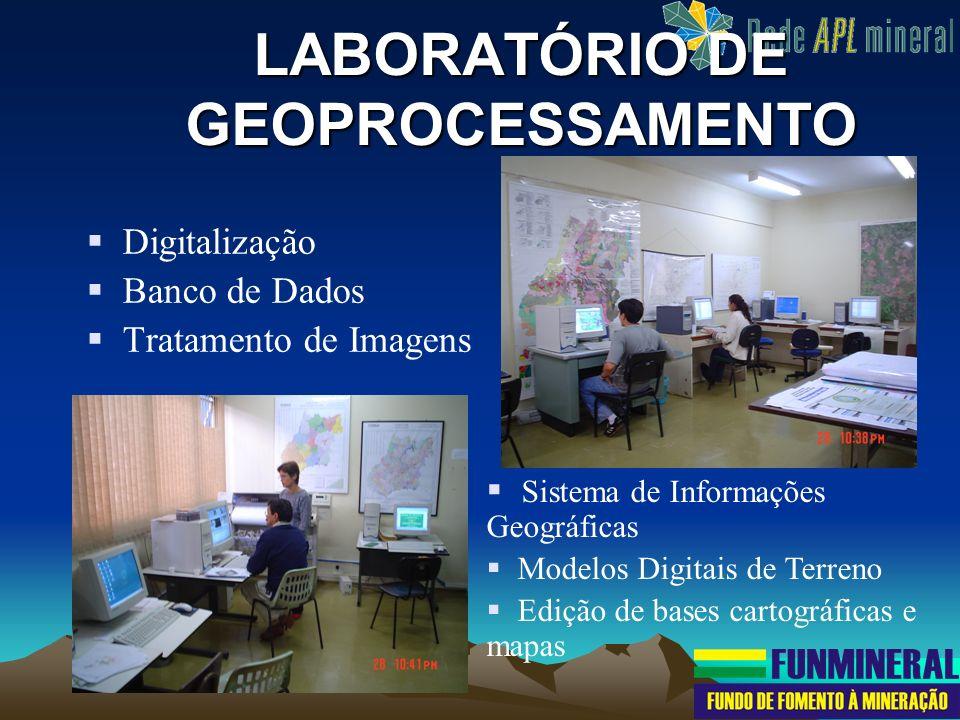 Digitalização Banco de Dados Tratamento de Imagens LABORATÓRIO DE GEOPROCESSAMENTO Sistema de Informações Geográficas Modelos Digitais de Terreno Ediç
