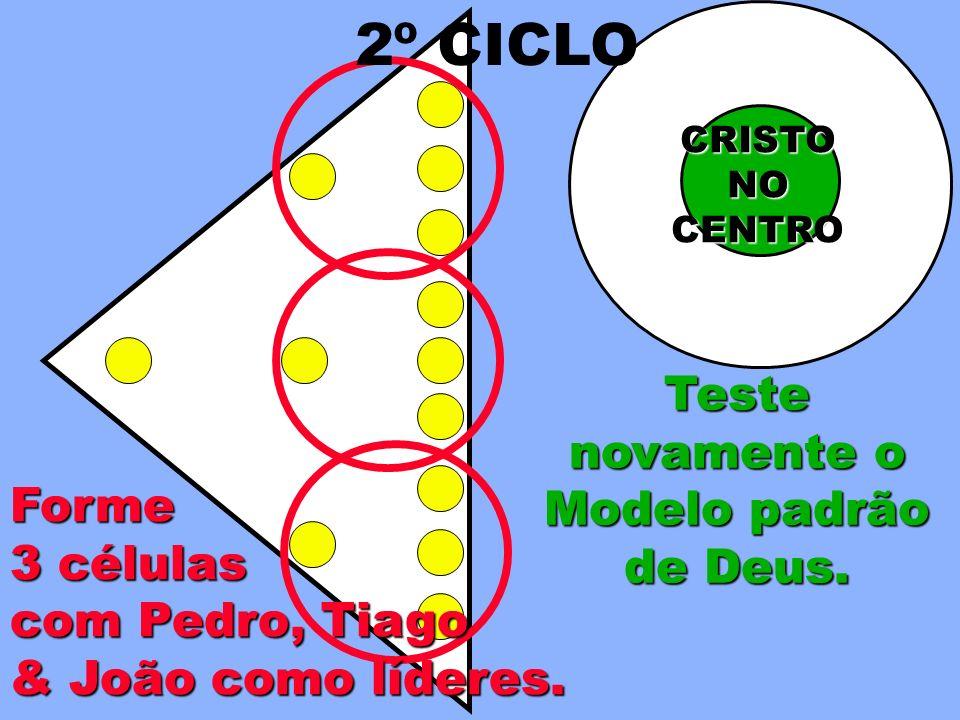 Forme 3 células com Pedro, Tiago & João como líderes. CRISTONOCENTRO 2º CICLO