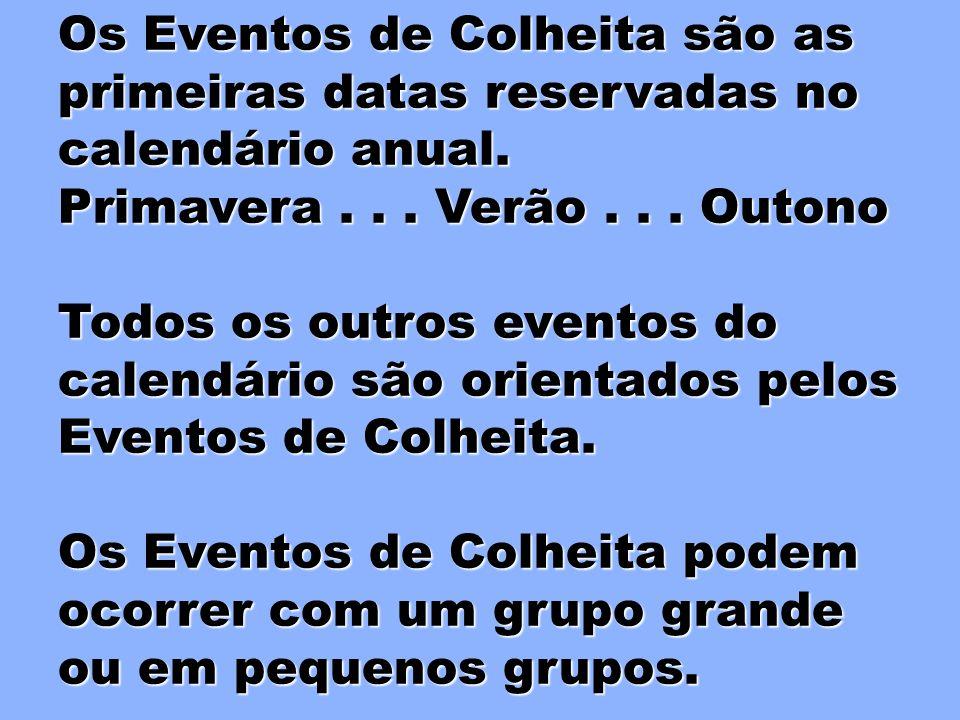 REDES DE EVANGELISMO EVENTOS DE EVENTOS DE COLHEITA COLHEITA São redes Corporativas Corporativas Cada célula torna-se parte do sistema de rede Corpora