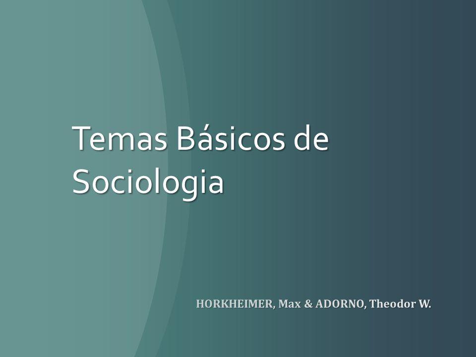 Temas Básicos de Sociologia