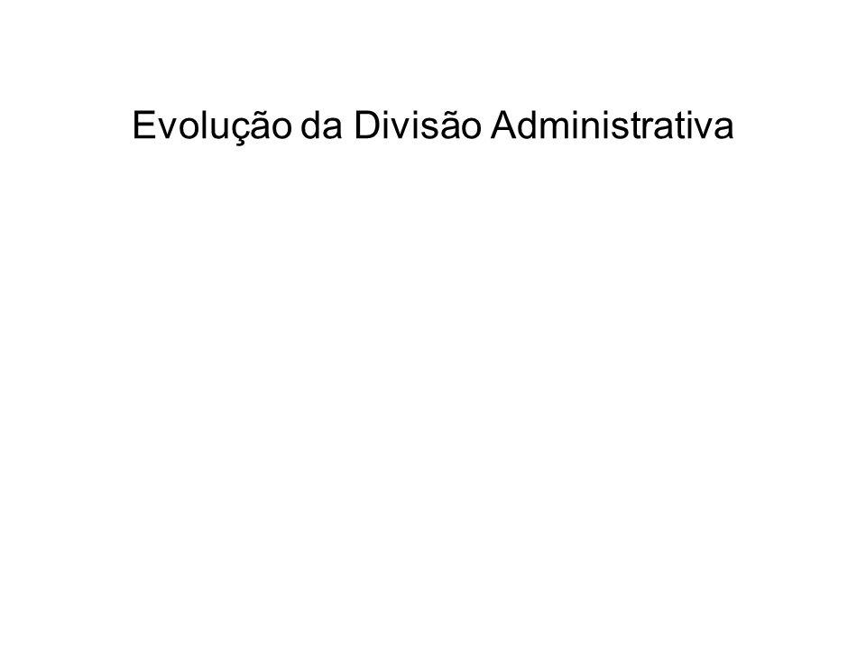 Evolução da Divisão Administrativa