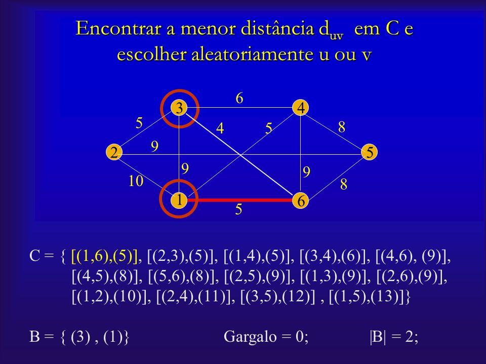 C = { [(1,6),(5)], [(2,3),(5)], [(1,4),(5)], [(3,4),(6)], [(4,6), (9)], [(4,5),(8)], [(5,6),(8)], [(2,5),(9)], [(1,3),(9)], [(2,6),(9)], [(1,2),(10)],