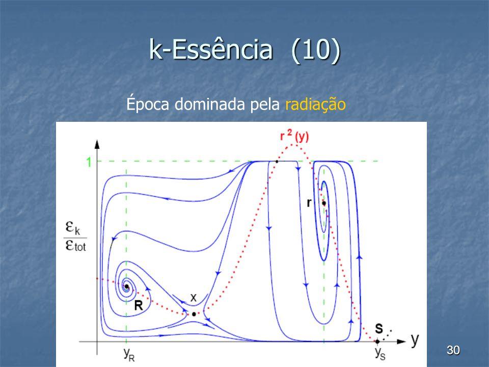 30 k-Essência (10) Época dominada pela radiação