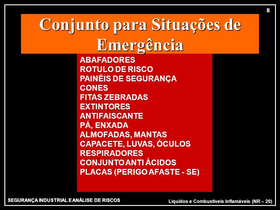 SEGURANÇA INDUSTRIAL E ANÁLISE DE RISCOS 8 ABAFADORES ROTULO DE RISCO PAINÉIS DE SEGURANÇA CONES FITAS ZEBRADAS EXTINTORES ANTIFAISCANTE PÁ, ENXADA AL