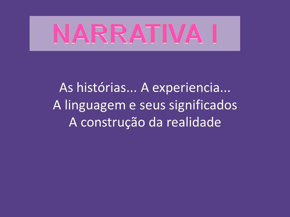 As histórias... A experiencia... A linguagem e seus significados A construção da realidade