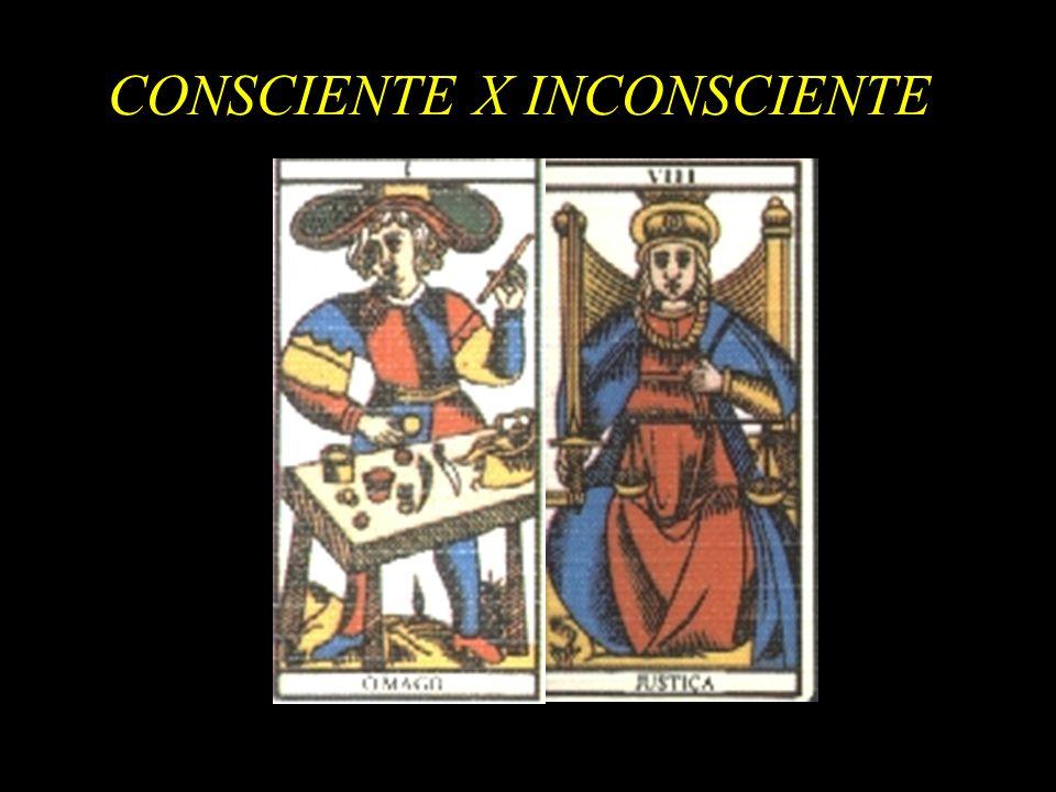 CONSCIENTE X INCONSCIENTE das forças universais do inconsciente coletivo, a tal ponto que elas se levantariam, por assim dizer, em rebelião e esmagariam, os últimos vestígios de uma consciência penosamente adquirida pelo homem.