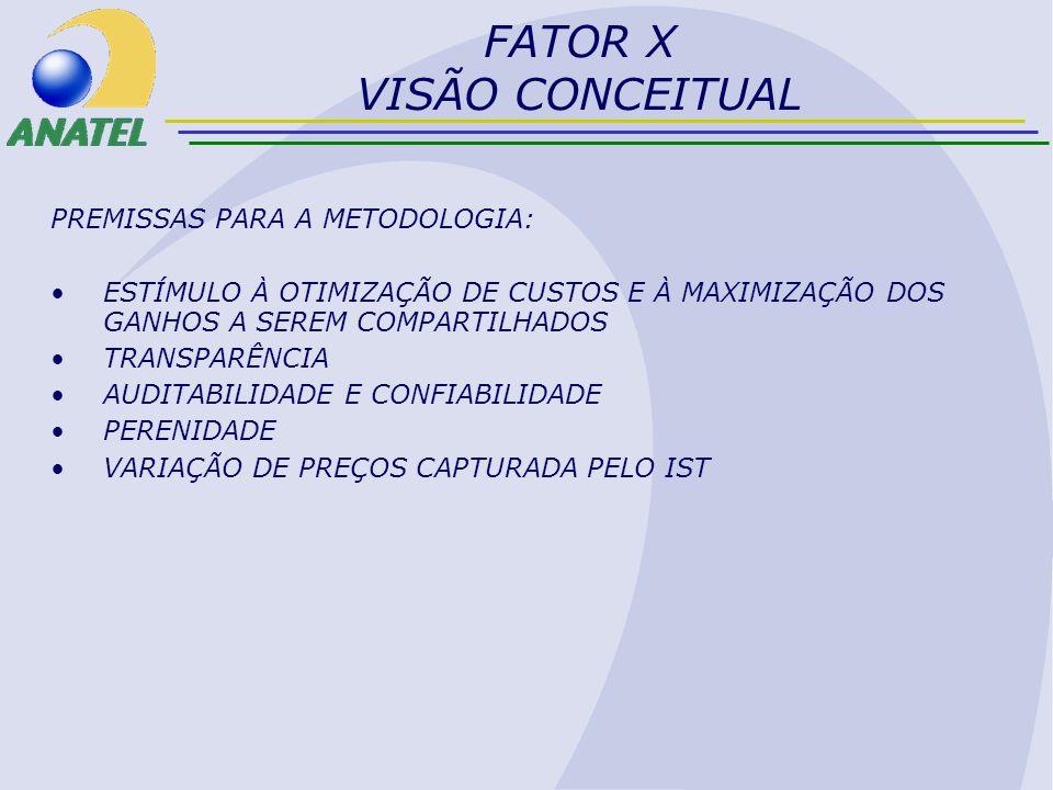 IPTF F ABRANGÊNCIA DE ACORDO COM A NORMA PROPOSTA, A RAZÃO DE PRODUTIVIDADE (E) É CALCULADA PARA CADA CONCESSIONÁRIA DO STFC.