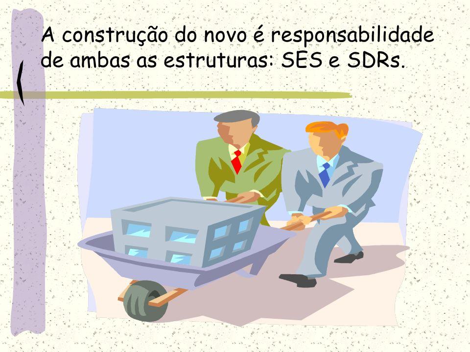A construção do novo é responsabilidade de ambas as estruturas: SES e SDRs.