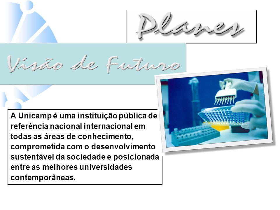 7 A Unicamp é uma instituição pública de referência nacional internacional em todas as áreas de conhecimento, comprometida com o desenvolvimento sustentável da sociedade e posicionada entre as melhores universidades contemporâneas.