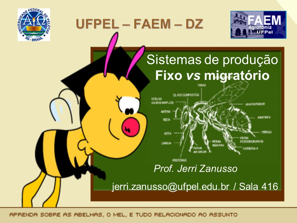 UFPEL – FAEM – DZ Sistemas de produção Fixo vs migratório Prof. Jerri Zanusso jerri.zanusso@ufpel.edu.br / Sala 416