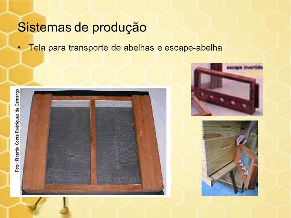 Sistemas de produção Tela para transporte de abelhas e escape-abelha