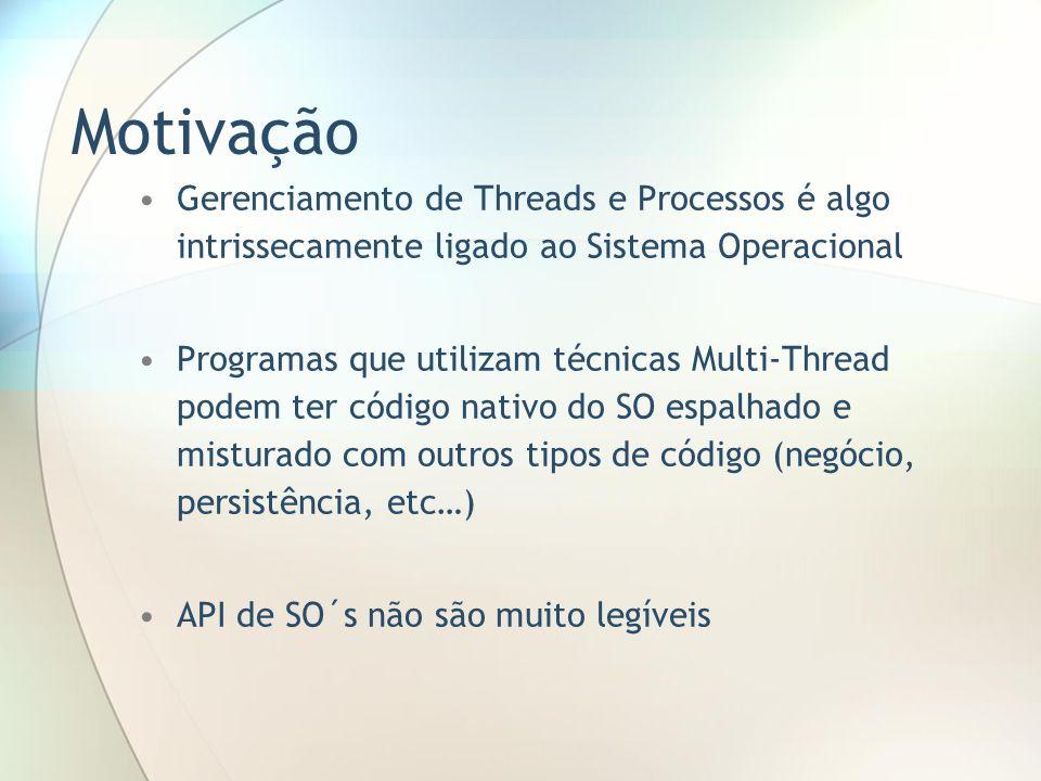 Motivação Gerenciamento de Threads e Processos é algo intrissecamente ligado ao Sistema Operacional Programas que utilizam técnicas Multi-Thread podem