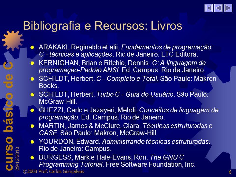 curso básico de C 29/12/2013 ©2003 Prof.