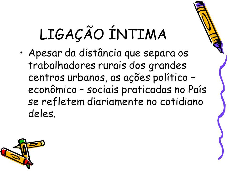 INFLUÊNCIAS E MODO DE VIDA O exemplo do Jeca Tatu ajuda entender que existe relação direta entre as condições de vida do nosso agricultor e o modelo político econômico do Brasil e do mundo, cujas conseqüências recaem sobre o trabalhador do campo.